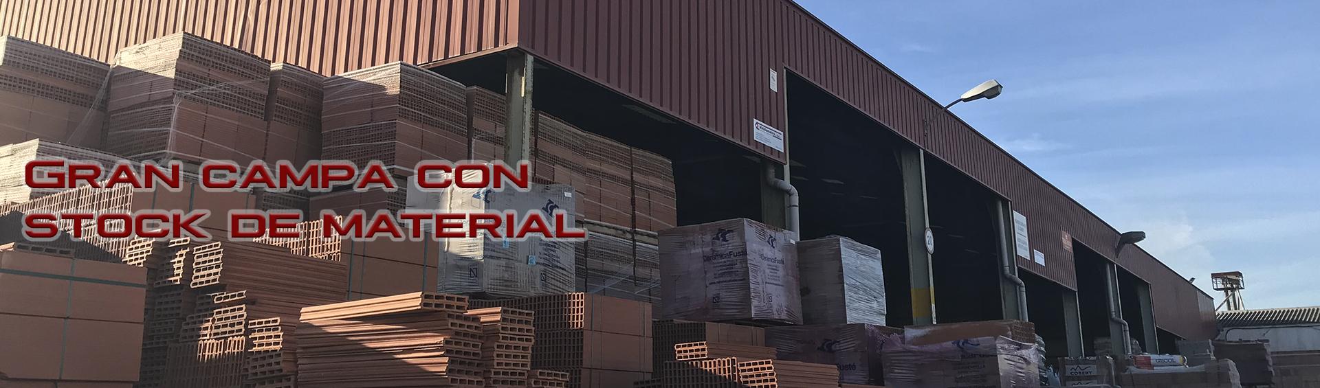 Campa material con gran stock en Suministros Valdonaire